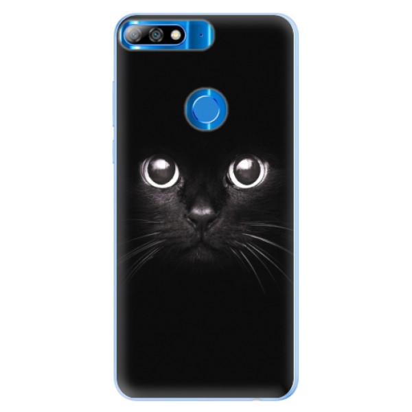 Silikonové pouzdro iSaprio - Black Cat - Huawei Y7 Prime 2018