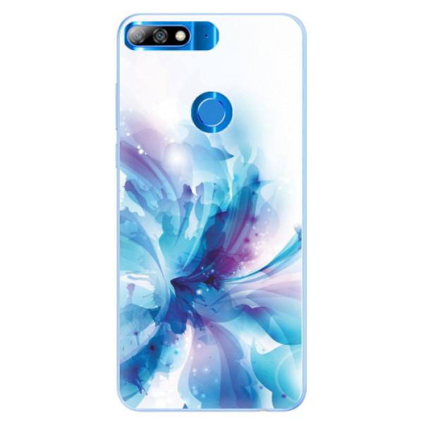 Silikonové pouzdro iSaprio - Abstract Flower - Huawei Y7 Prime 2018