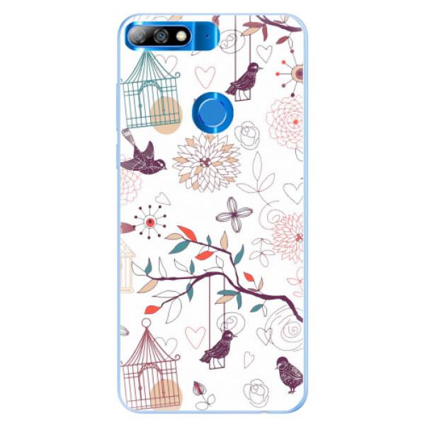 Silikonové pouzdro iSaprio - Birds - Huawei Y7 Prime 2018