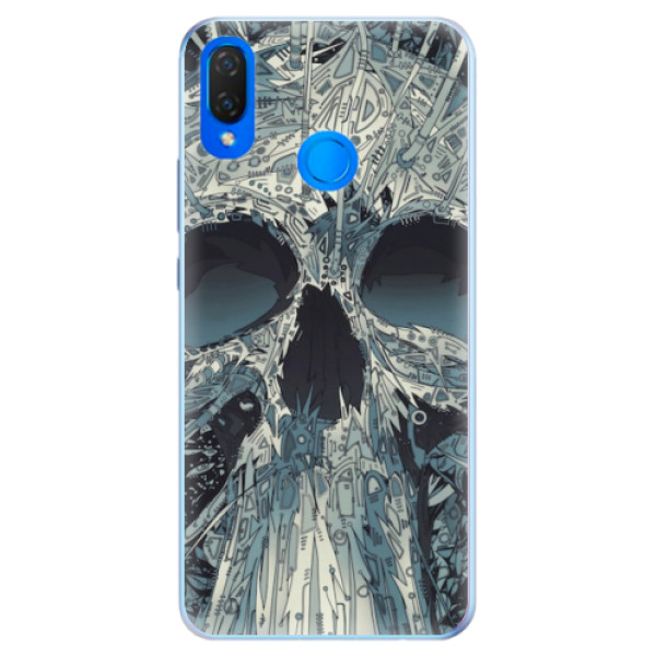 Silikonové pouzdro iSaprio - Abstract Skull - Huawei Nova 3i