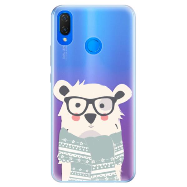 Silikonové pouzdro iSaprio - Bear with Scarf - Huawei Nova 3i