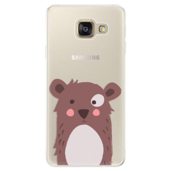 Silikonové pouzdro iSaprio - Brown Bear - Samsung Galaxy A5 2016
