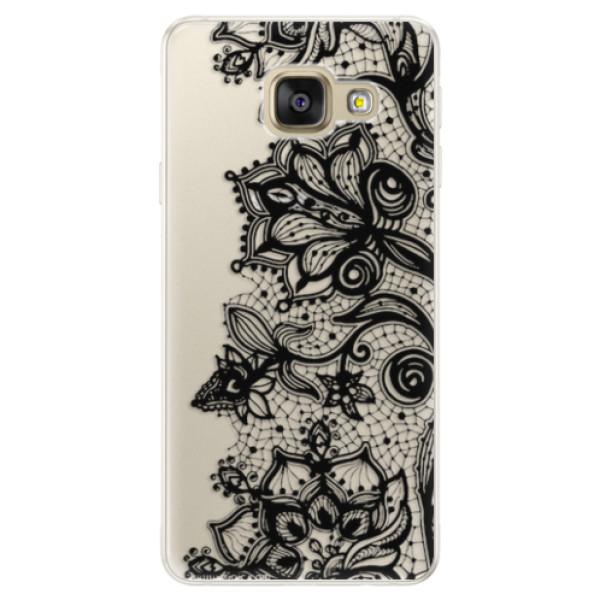 Silikonové pouzdro iSaprio - Black Lace - Samsung Galaxy A5 2016