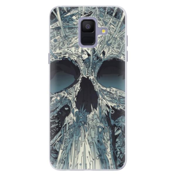 Silikonové pouzdro iSaprio - Abstract Skull - Samsung Galaxy A6
