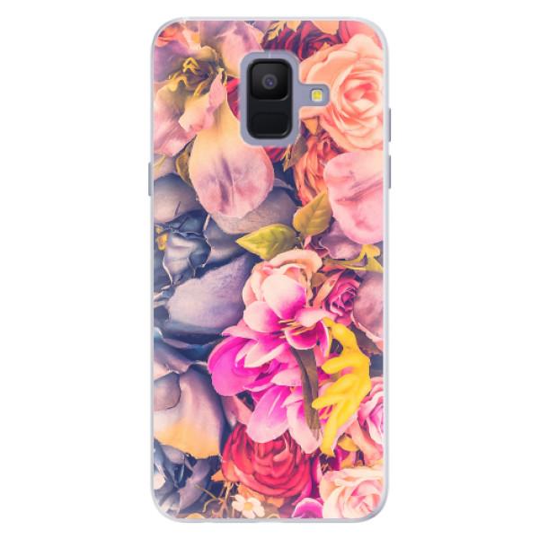 Silikonové pouzdro iSaprio - Beauty Flowers - Samsung Galaxy A6