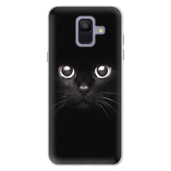 Silikonové pouzdro iSaprio - Black Cat - Samsung Galaxy A6