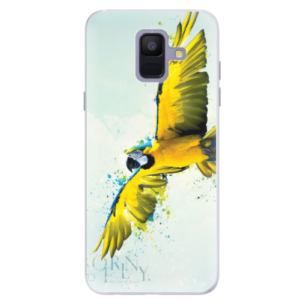 Silikonové pouzdro iSaprio - Born to Fly - Samsung Galaxy A6