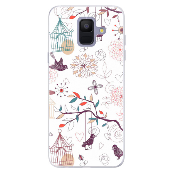 Silikonové pouzdro iSaprio - Birds - Samsung Galaxy A6