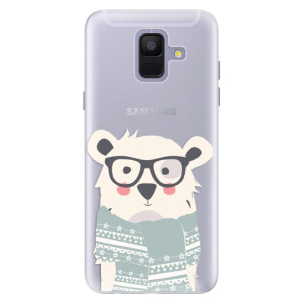 Silikonové pouzdro iSaprio - Bear with Scarf - Samsung Galaxy A6