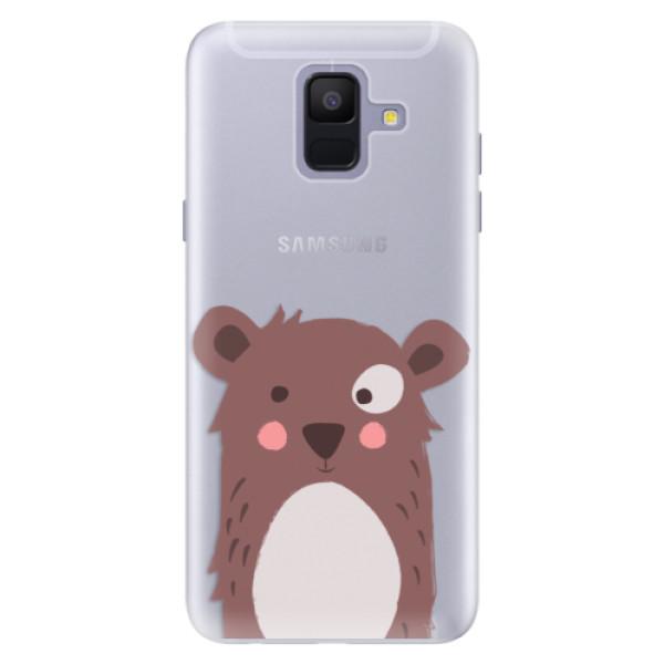 Silikonové pouzdro iSaprio - Brown Bear - Samsung Galaxy A6