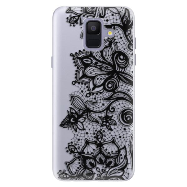 Silikonové pouzdro iSaprio - Black Lace - Samsung Galaxy A6