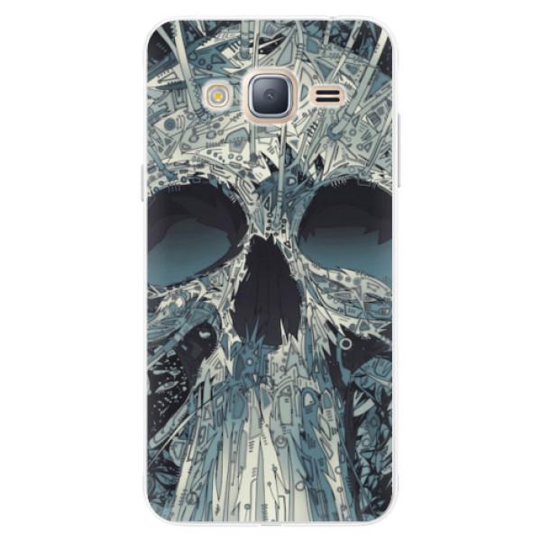 Silikonové pouzdro iSaprio - Abstract Skull - Samsung Galaxy J3
