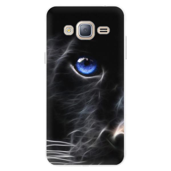 Silikonové pouzdro iSaprio - Black Puma - Samsung Galaxy J3