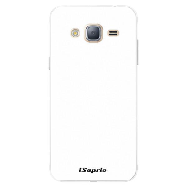 Silikonové pouzdro iSaprio - 4Pure - bílý - Samsung Galaxy J3