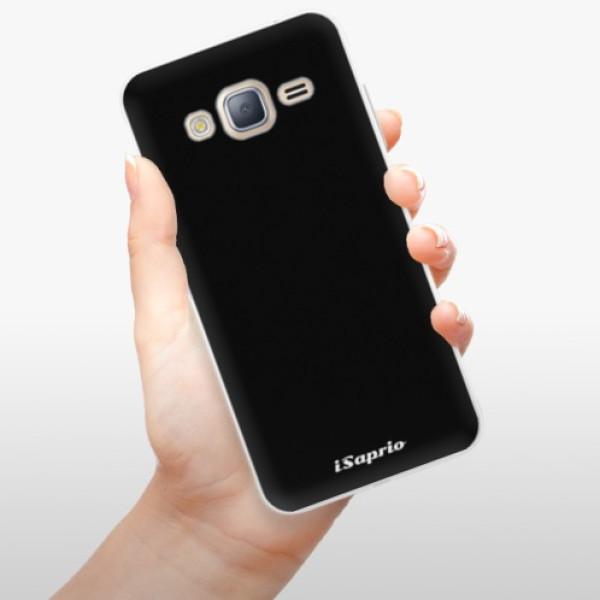 Silikonové pouzdro iSaprio - 4Pure - černý - Samsung Galaxy J3
