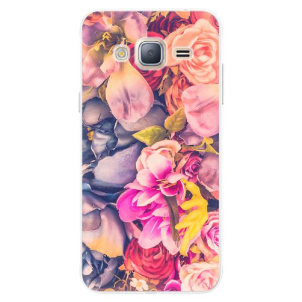 Silikonové pouzdro iSaprio - Beauty Flowers - Samsung Galaxy J3