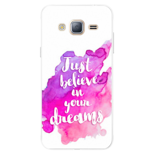 Silikonové pouzdro iSaprio - Believe - Samsung Galaxy J3