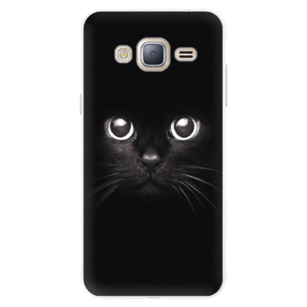 Silikonové pouzdro iSaprio - Black Cat - Samsung Galaxy J3