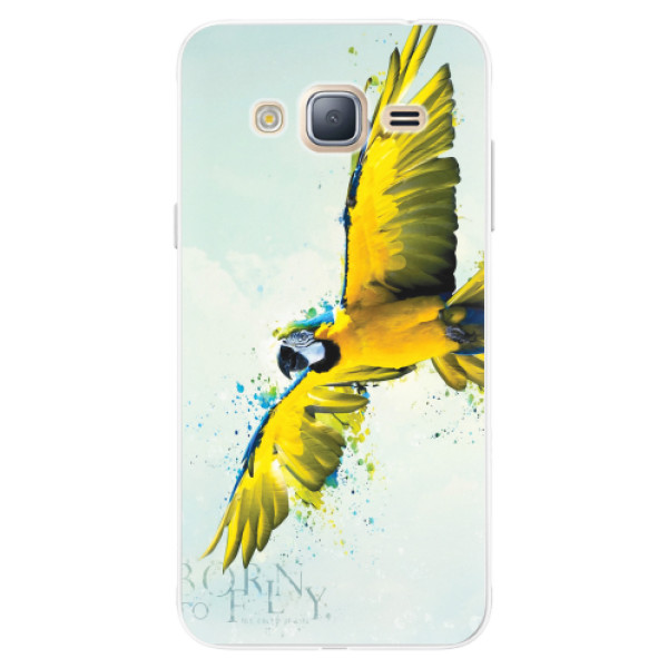 Silikonové pouzdro iSaprio - Born to Fly - Samsung Galaxy J3