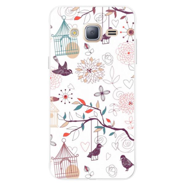 Silikonové pouzdro iSaprio - Birds - Samsung Galaxy J3