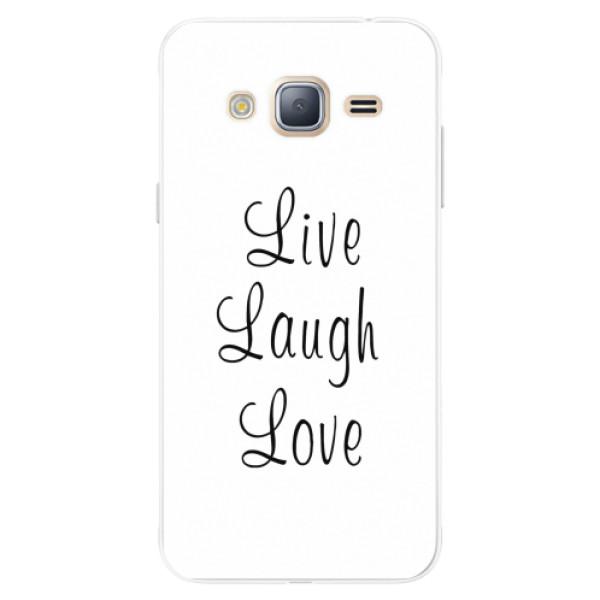 Silikonové pouzdro iSaprio - Live Laugh Love - Samsung Galaxy J3