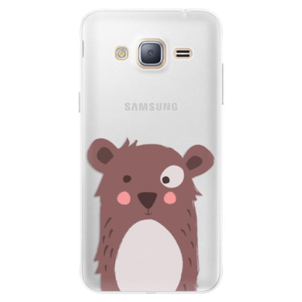 Silikonové pouzdro iSaprio - Brown Bear - Samsung Galaxy J3