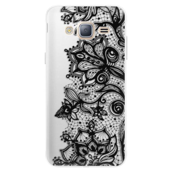 Silikonové pouzdro iSaprio - Black Lace - Samsung Galaxy J3