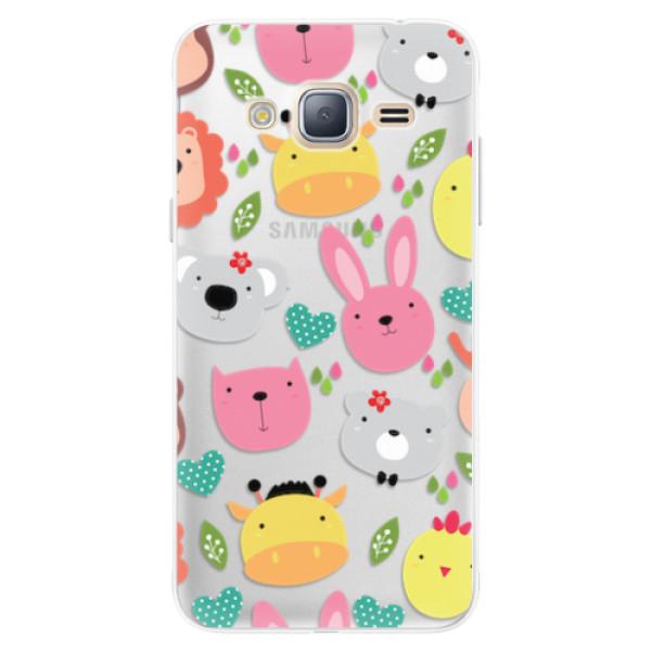 Silikonové pouzdro iSaprio - Animals 01 - Samsung Galaxy J3