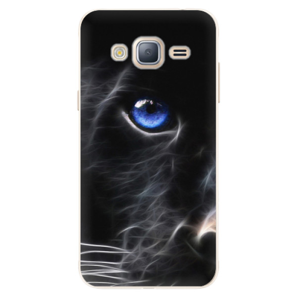 Silikonové pouzdro iSaprio - Black Puma - Samsung Galaxy J3 2016