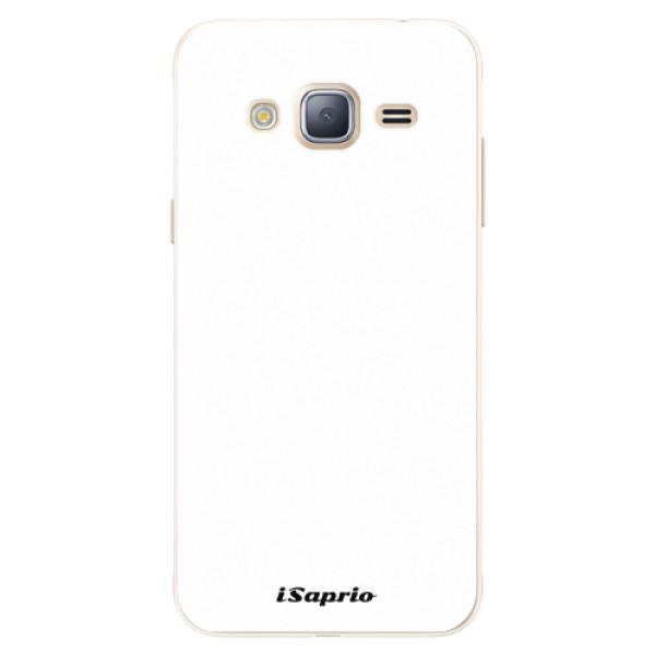 Silikonové pouzdro iSaprio - 4Pure - bílý - Samsung Galaxy J3 2016