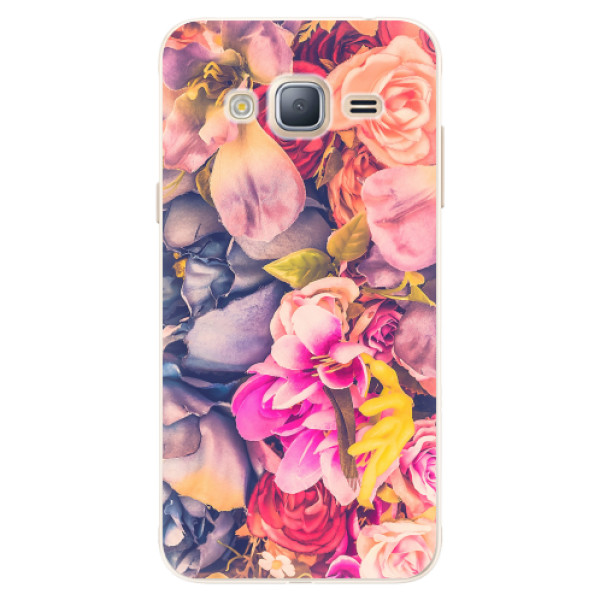 Silikonové pouzdro iSaprio - Beauty Flowers - Samsung Galaxy J3 2016