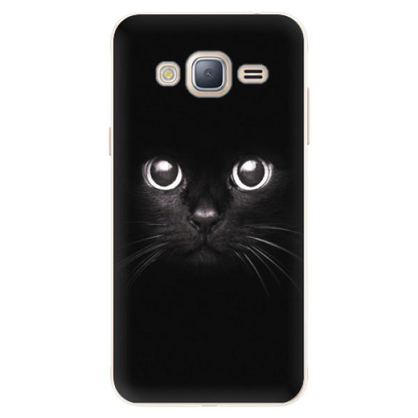 Silikonové pouzdro iSaprio - Black Cat - Samsung Galaxy J3 2016