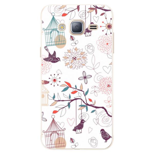 Silikonové pouzdro iSaprio - Birds - Samsung Galaxy J3 2016