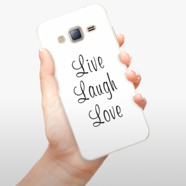 Silikonové pouzdro iSaprio - Live Laugh Love - Samsung Galaxy J3 2016