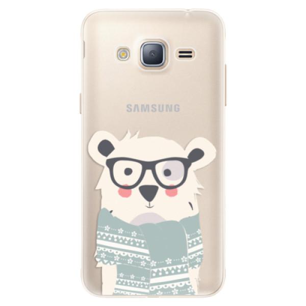 Silikonové pouzdro iSaprio - Bear with Scarf - Samsung Galaxy J3 2016