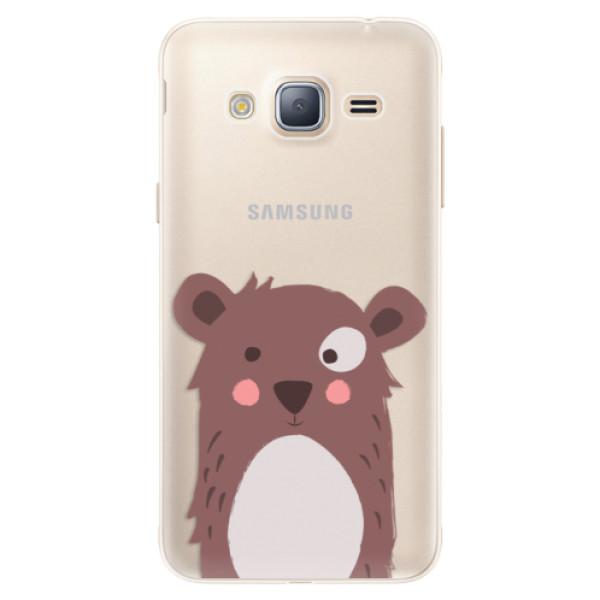 Silikonové pouzdro iSaprio - Brown Bear - Samsung Galaxy J3 2016