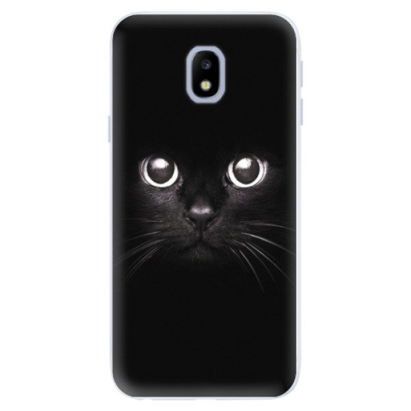 Silikonové pouzdro iSaprio - Black Cat - Samsung Galaxy J3 2017