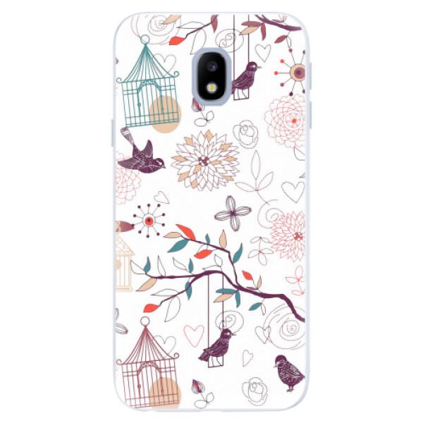 Silikonové pouzdro iSaprio - Birds - Samsung Galaxy J3 2017