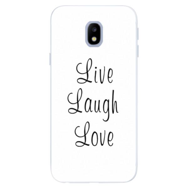 Silikonové pouzdro iSaprio - Live Laugh Love - Samsung Galaxy J3 2017