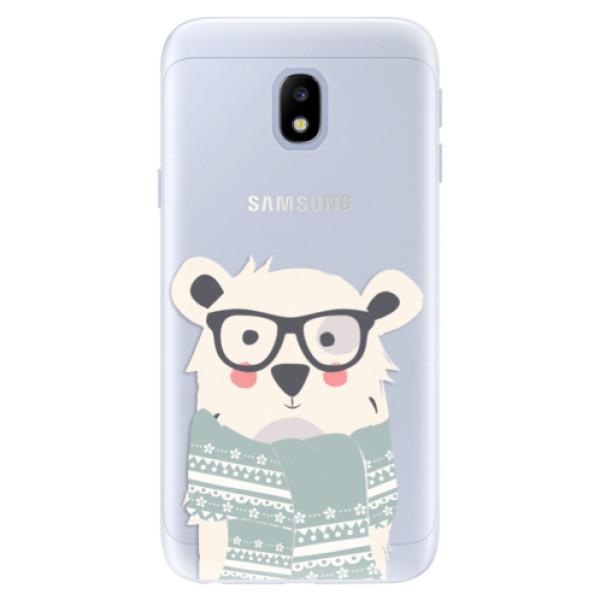 Silikonové pouzdro iSaprio - Bear with Scarf - Samsung Galaxy J3 2017