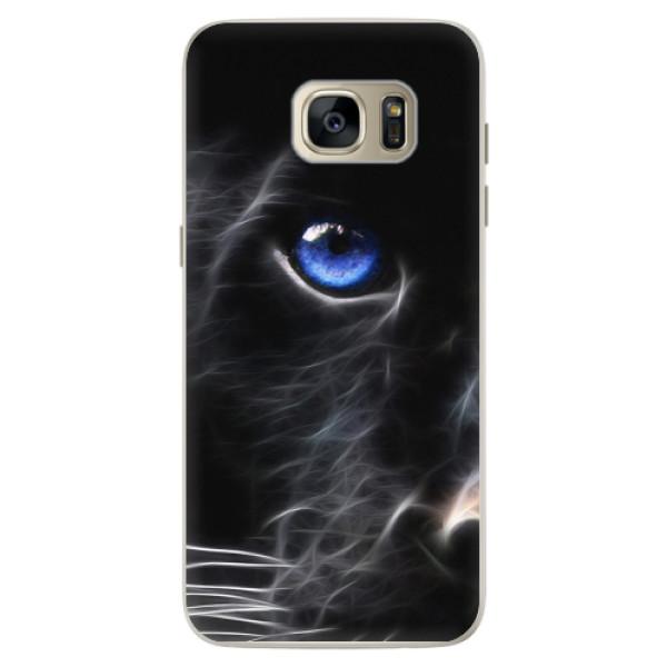 Silikonové pouzdro iSaprio - Black Puma - Samsung Galaxy S7