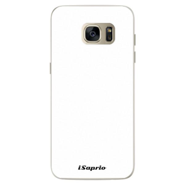 Silikonové pouzdro iSaprio - 4Pure - bílý - Samsung Galaxy S7