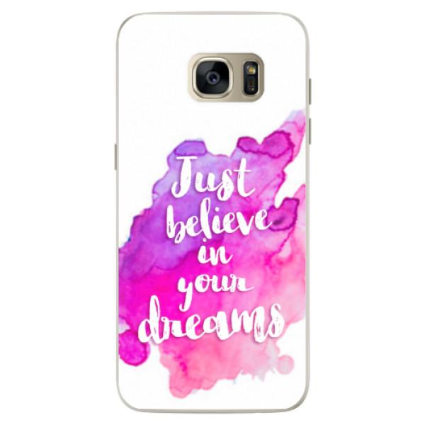 Silikonové pouzdro iSaprio - Believe - Samsung Galaxy S7