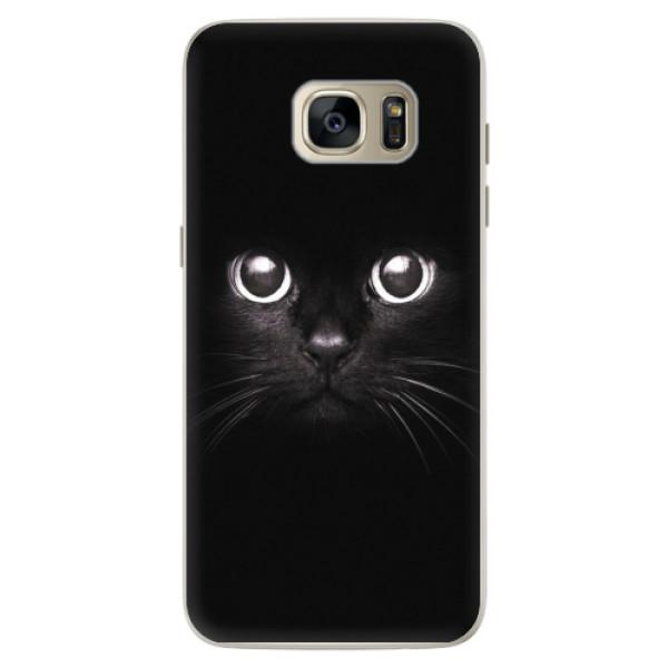 Silikonové pouzdro iSaprio - Black Cat - Samsung Galaxy S7