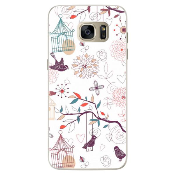 Silikonové pouzdro iSaprio - Birds - Samsung Galaxy S7
