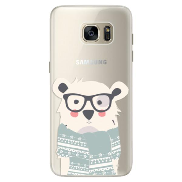 Silikonové pouzdro iSaprio - Bear with Scarf - Samsung Galaxy S7