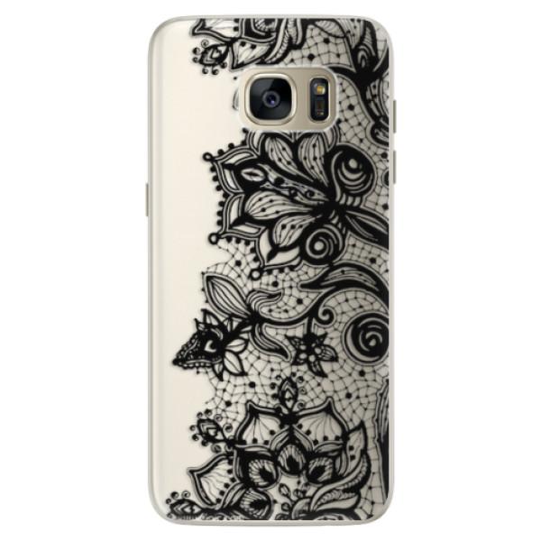 Silikonové pouzdro iSaprio - Black Lace - Samsung Galaxy S7