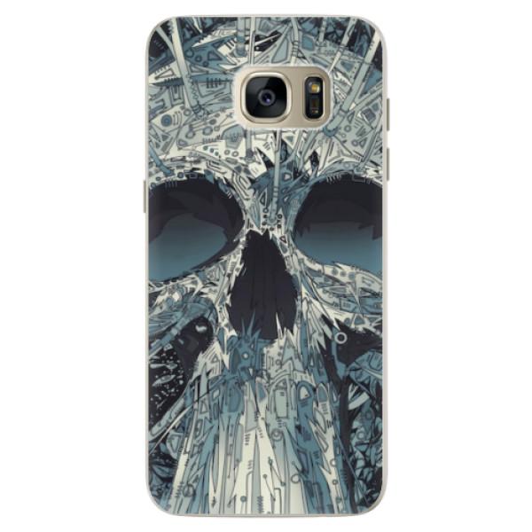 Silikonové pouzdro iSaprio - Abstract Skull - Samsung Galaxy S7 Edge