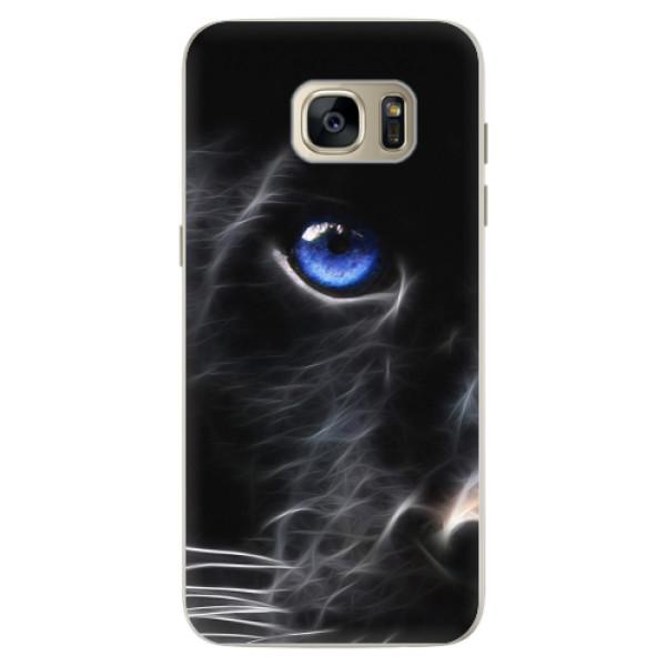 Silikonové pouzdro iSaprio - Black Puma - Samsung Galaxy S7 Edge