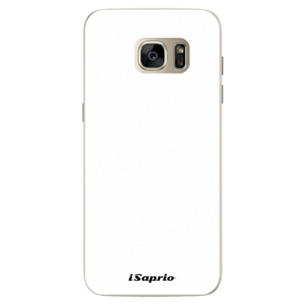 Silikonové pouzdro iSaprio - 4Pure - bílý - Samsung Galaxy S7 Edge